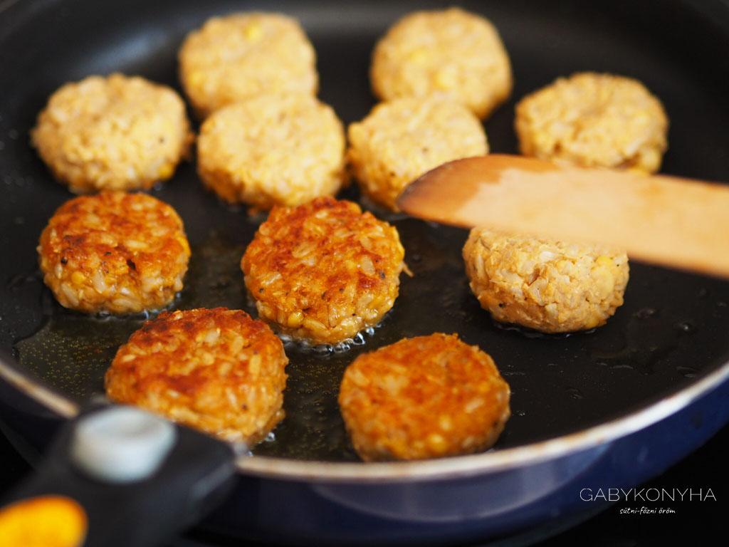 Gluténmentes vegán tejtermékmentes csicseriborsó fasírtok