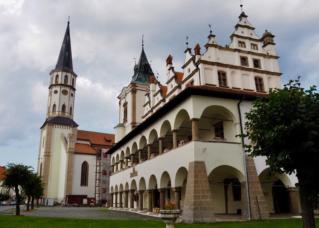 Szlovákia Lőcse főtér