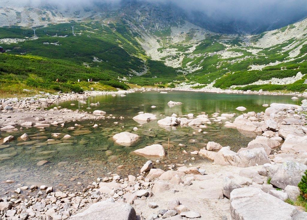 Szlovákia Magas-Tátra Kő-pataki-tó Lomnici-csúcs