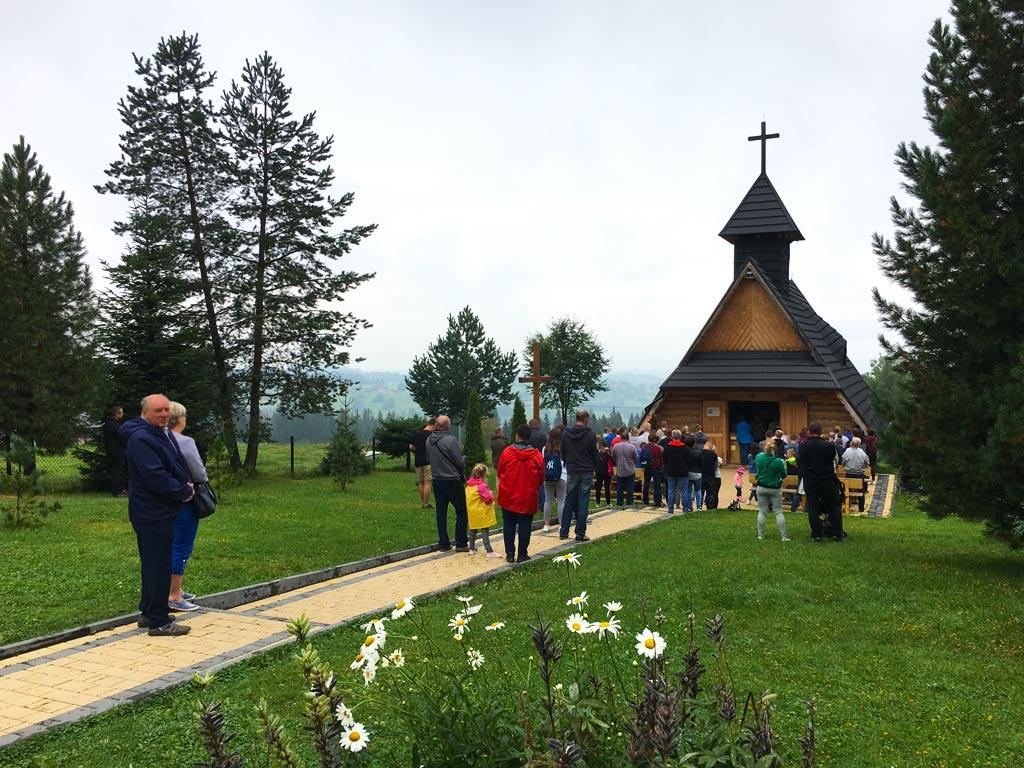 Lengyelország Zakopane Gubalowka hely templom