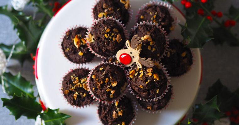 Kakaós-csokis-diós muffinok