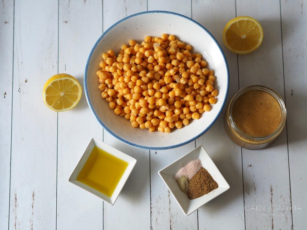 Gluténmentes vegán alap hummusz