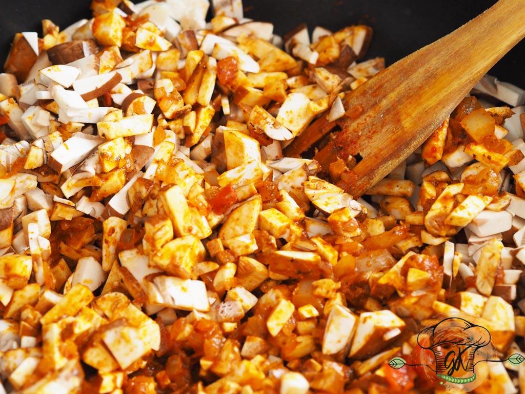 Gluténmentes vegán rakott kelkáposzta