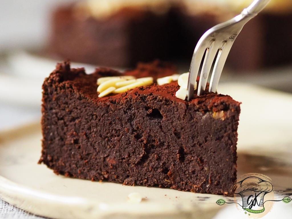 Gluténmentes vegán édesburgonyás brownie