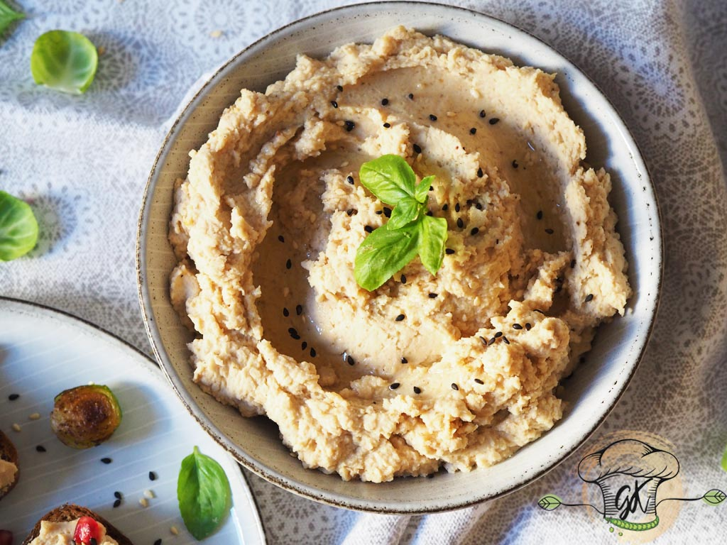 Gluténmentes vegán babhummusz