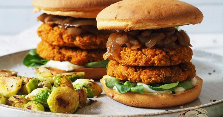Sütőtökös-quinoás hamburger hagymalekvárral