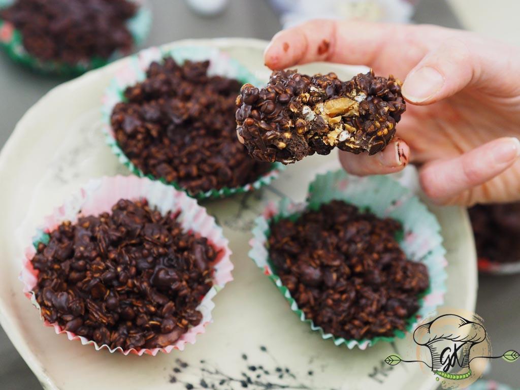 Gluténmentes vegán csokis granola granolahalmok
