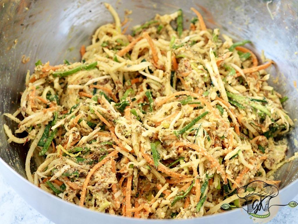 Gluténmentes vegán kócos zöldséglepények